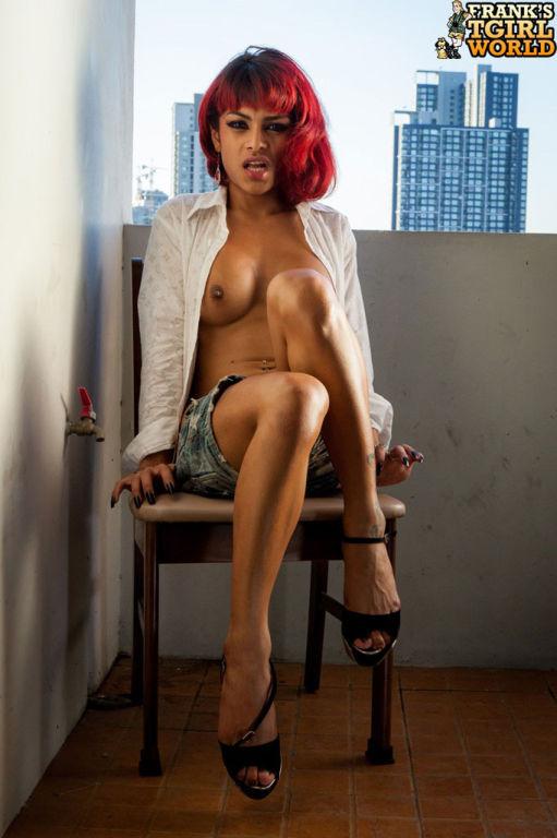 Redhead ladyboy