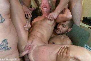 naked Simone Sonay rough milf