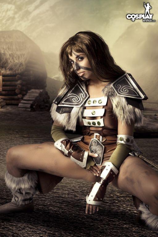 Cosplay Erotica Aela The Elder Scrolls nude cospla