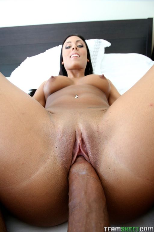 Sexy brunette Gianna Nicole sucks and fucks a hard