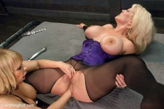 Mellanie Monroe busty blonde is anal fucked by kin