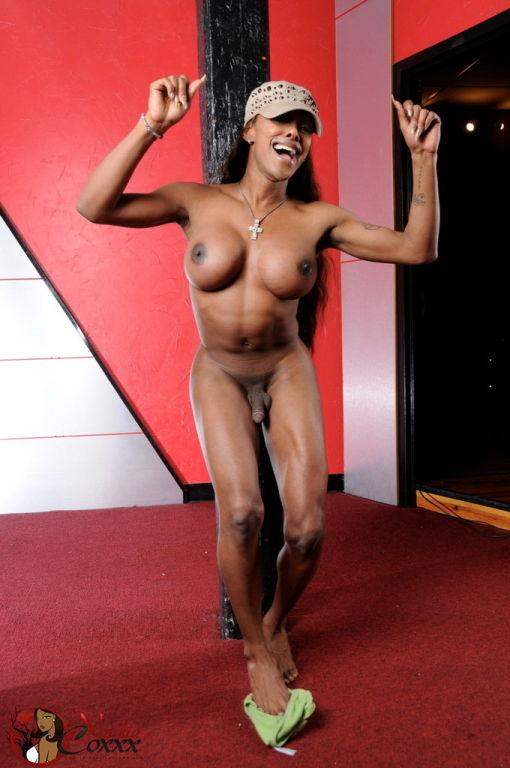 Ebony trans nude
