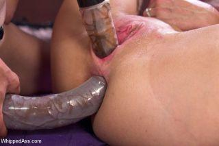 Simone Sonay in lesbian bondage scene