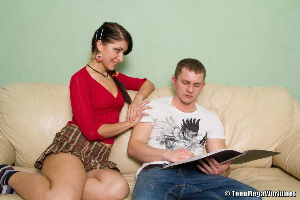 flexible teen brunette from Ukraine fucked from be