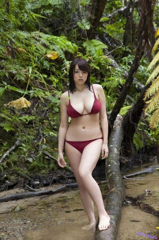 Busty asian Ai Shinozaki posing her natural big ti