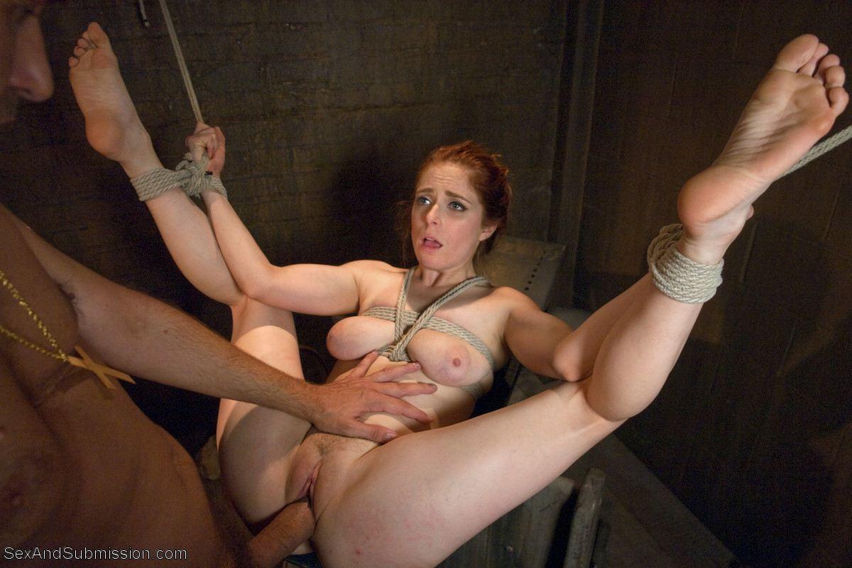 Sexy naked bondage