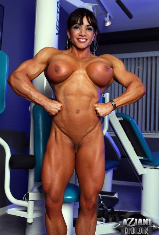 Big Muscle Mistress Marina Lopez sexy gym workout