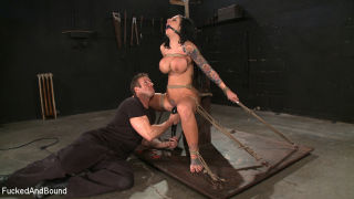 Hot bitch fucked and bound