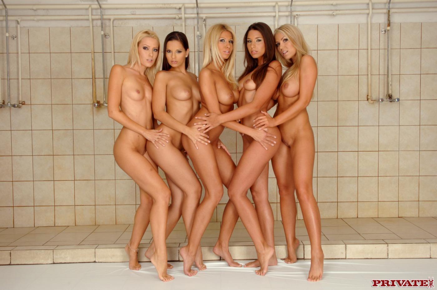 Shower orgy