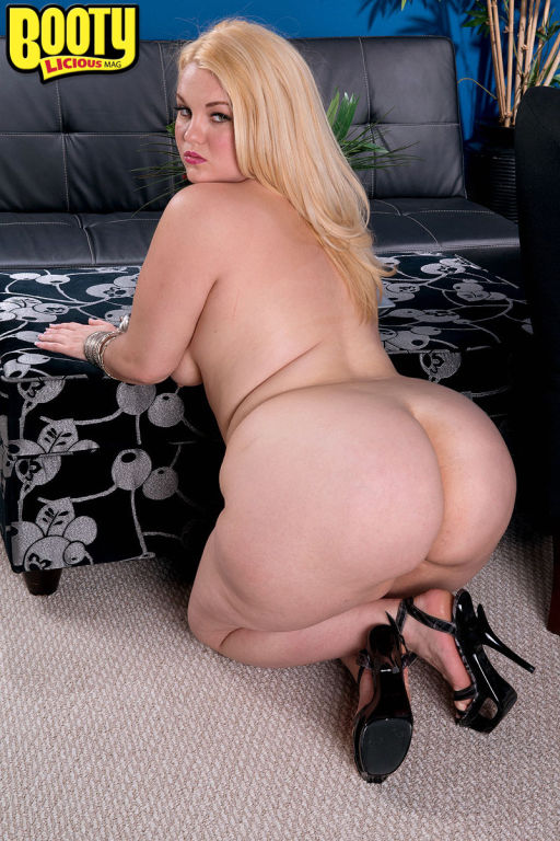BBW secretary with large ass masturbating