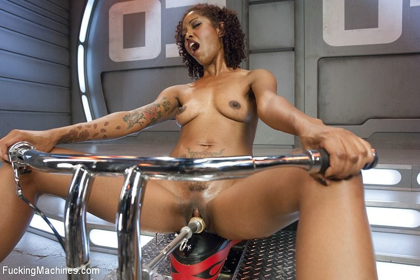 Ebony Riding Dildo Squirt
