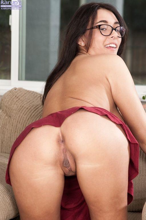 Perky brunette Anastasia Black masturbating pussy