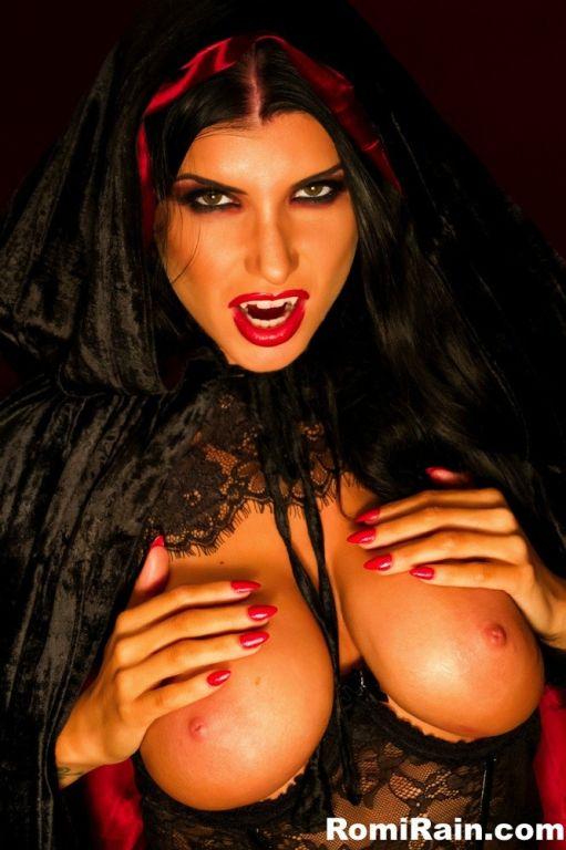 Busty Vampire Babe Romi Rain