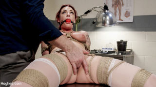 Sexy nurse is bound and tormented by one of her pa