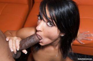 Brunette Deena Daniels on black cock in sex action
