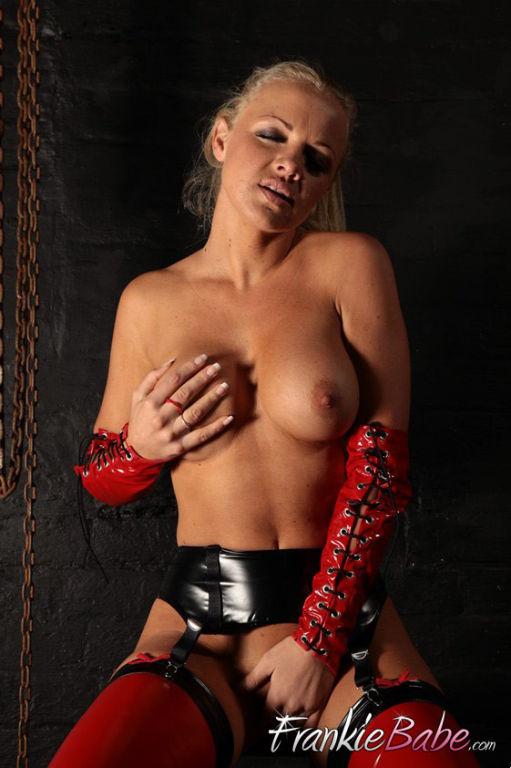 Cum and punish hot blonde FrankieBabe wearing her