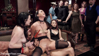 Veruca guides her slave trainee Sabrina in how to