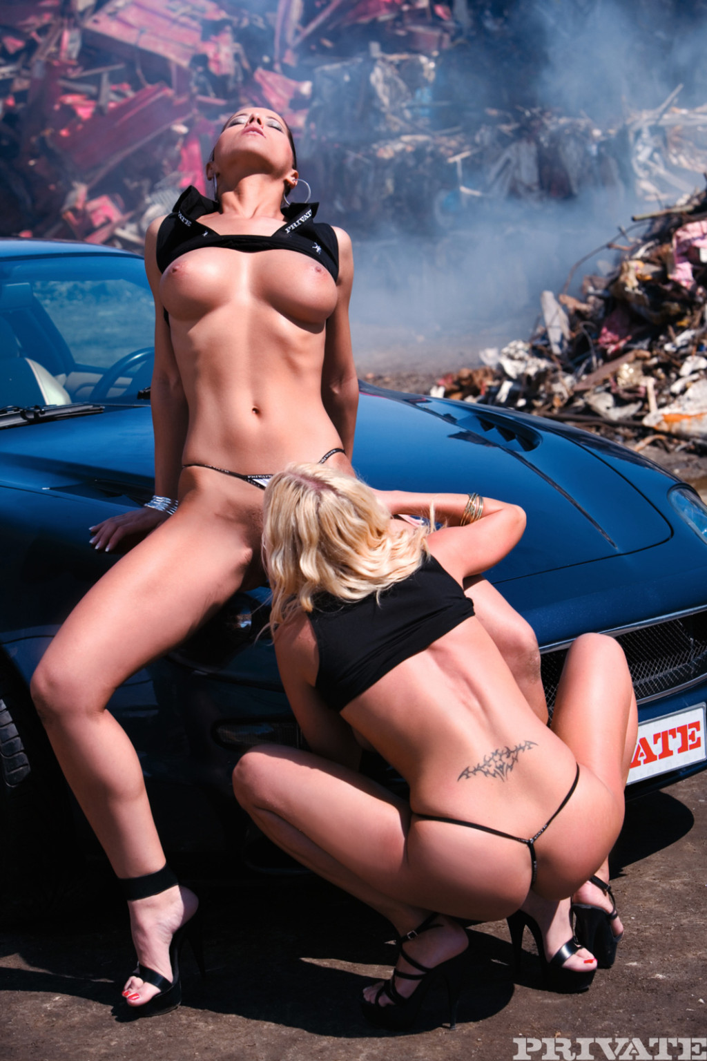 Lesbians seducing boobs