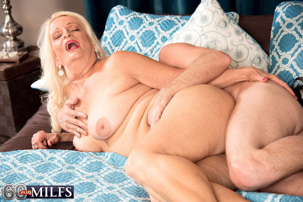 Busty Granny Vikki Vaughn Going Hard On Cock