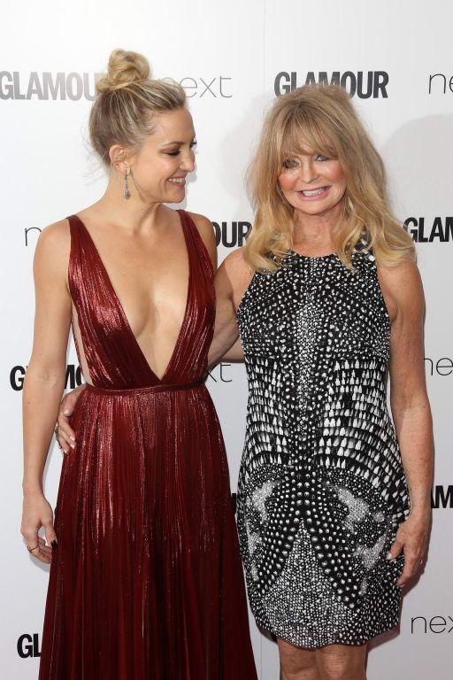 Kate Hudson braless showing huge cleavage at Glamo