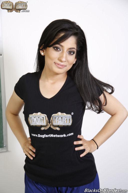 Nadia Ali takes on 5 big black cocks at Dogfart