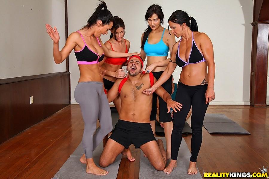Yoga group porn