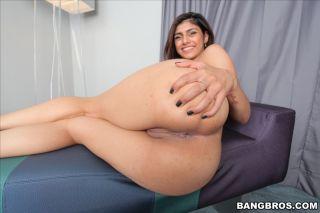 Busty Arab babe Mia Khalifa eagerly rides a huge s