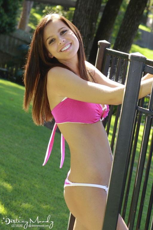 Bikini teen outdoors