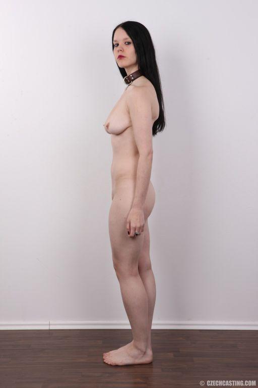 Gothic girl poses naked