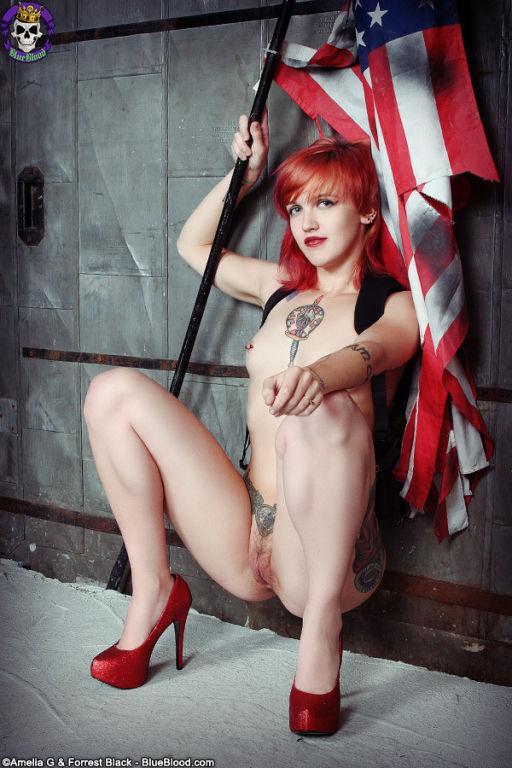 Tattooed Redhead celebrates Independence Day