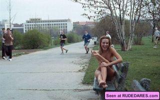 Women naked outside