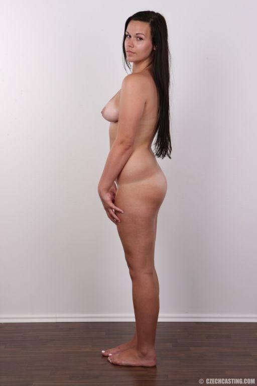 Lovely brunette student poses naked