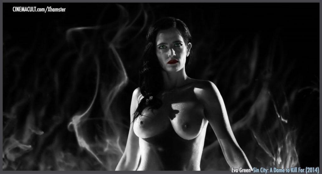 Eva Green nude black  white scenes from Sin City