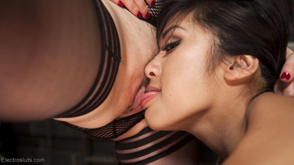 Watch Mia Li have multiple orgasms while bound, fi