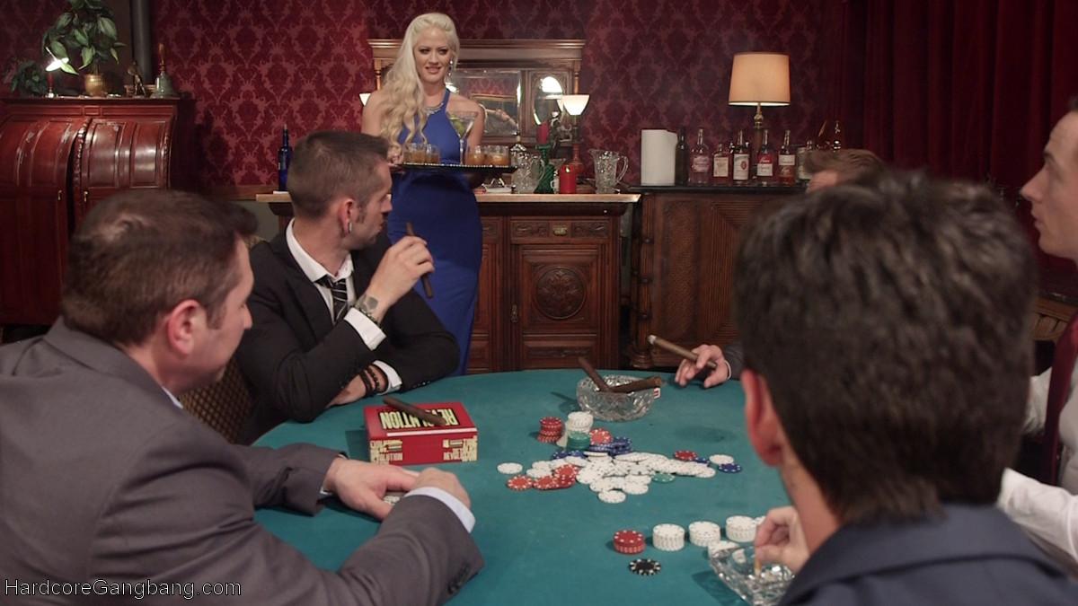 Gangbang wife poker