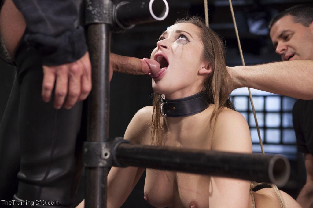 All natural slave girl Dani Daniels trembles at th