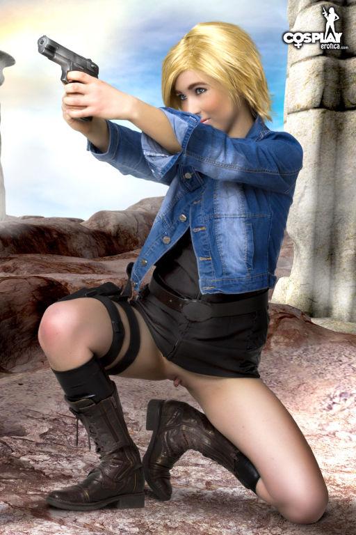 Hot girl in cosplay fun