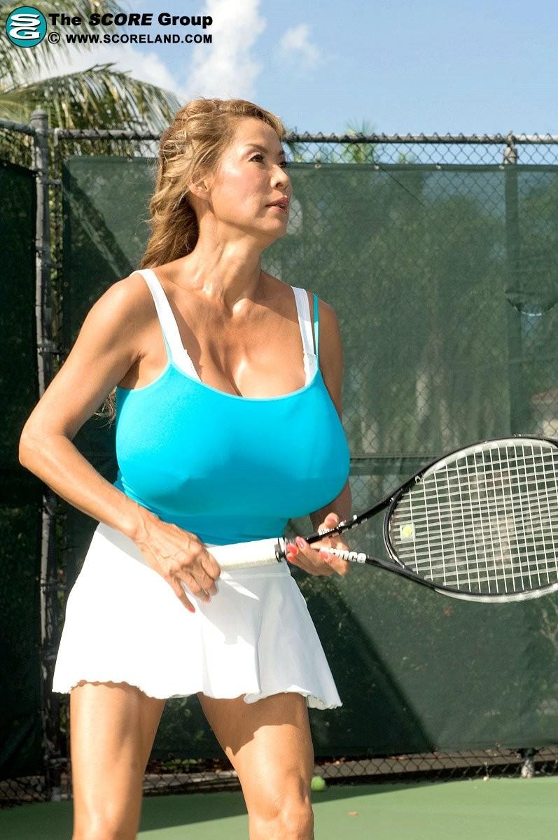 Big tits asian tennis player