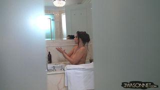 Ewa Sonnet  cam hidden in bathroom