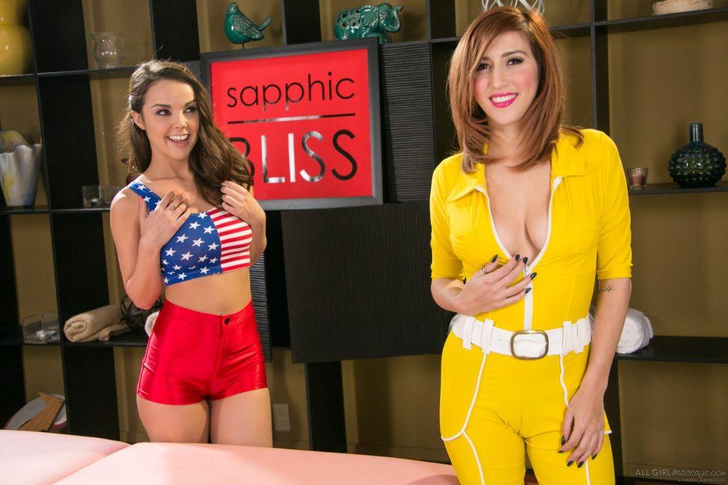 Dillion Harper and April ONeil Super Girls