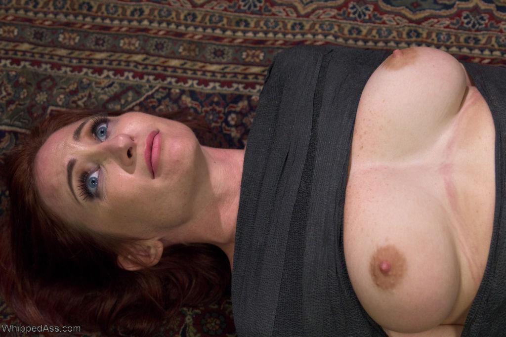 Sexy redhead, Sophia Locke, makes her explosive de