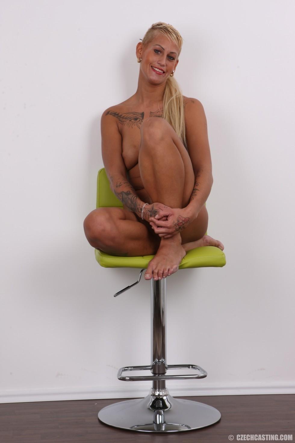 Blonde Tattoo Nipples Pierced