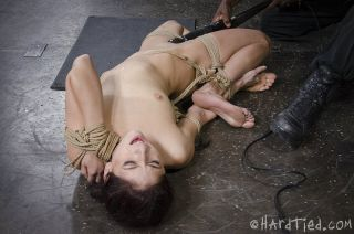 Nikki Knightly pigtails yoga submissive is rope bo