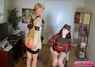 Naughty hooker gets a hard spanking by Freddie Kru