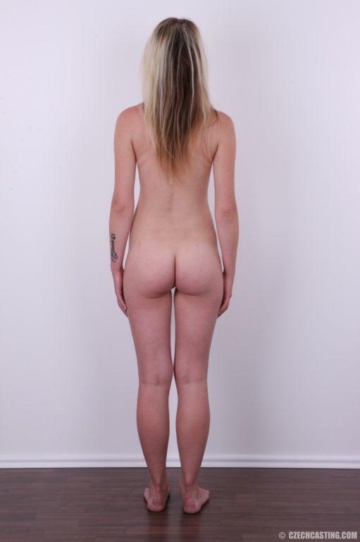 Cute amateur blonde teen poses
