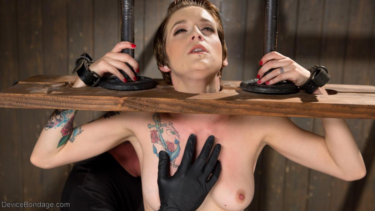 Skinny slut device bondage pain you