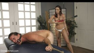 Chanel Preston feet fetish femdom spanks and strap