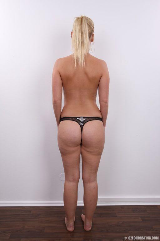 Natural amateur blonde in casting pics