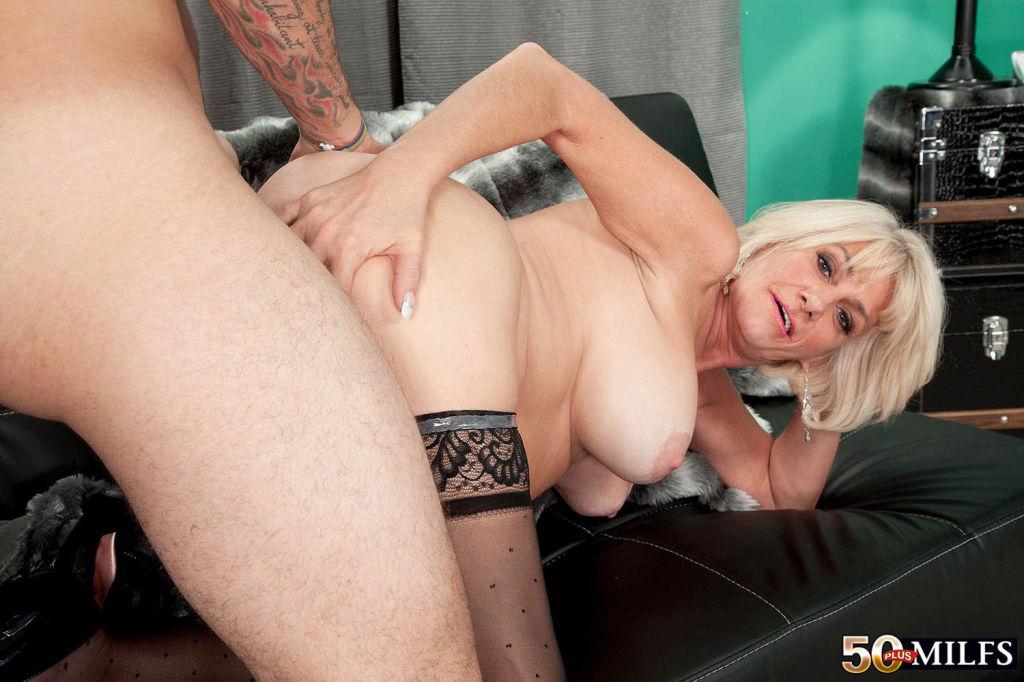 Busty Blond MILF Desire Collins Drilling Her Wet C