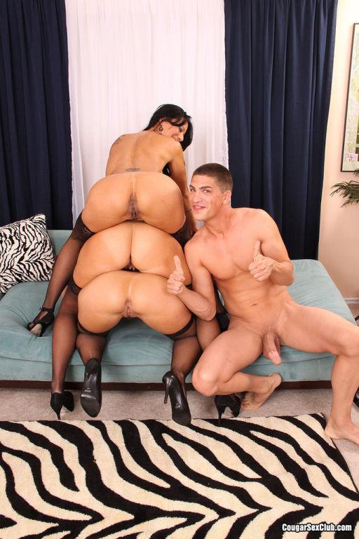 Three Amazing Cougar Sluts Craving Huge Stiff Cock